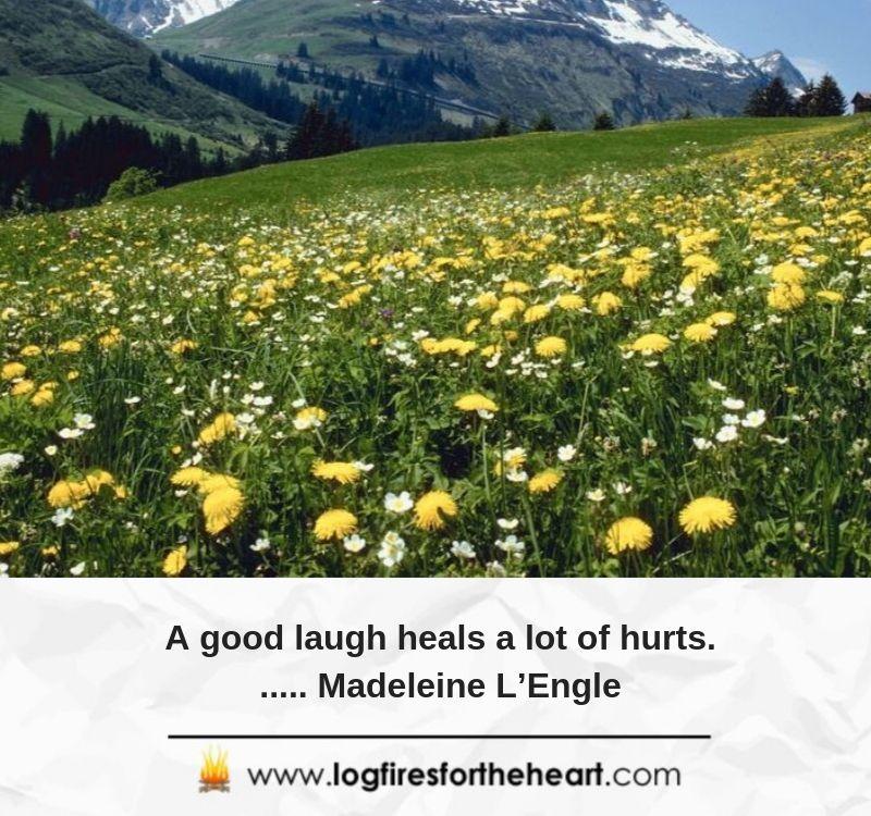 A good laugh heals a lot of hurts....... Madeleine L'Engle