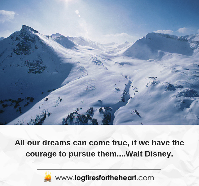 All our dreams can come true, if we have the courage to pursue them....Walt Disney.