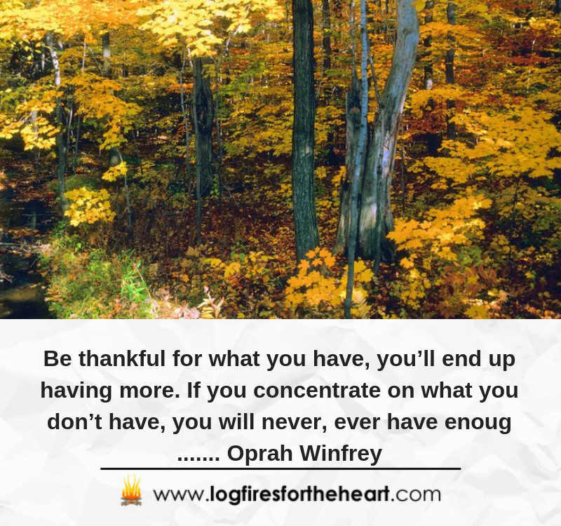 Be thankful for what you have, you'll end up having more. If you concentrate on what you don't have, you will never, ever have enough....... Oprah Winfrey