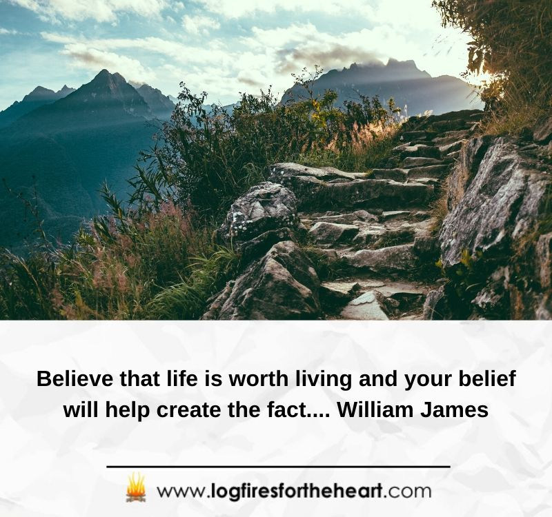 Believe that life is worth living and your belief will help create the fact....William James