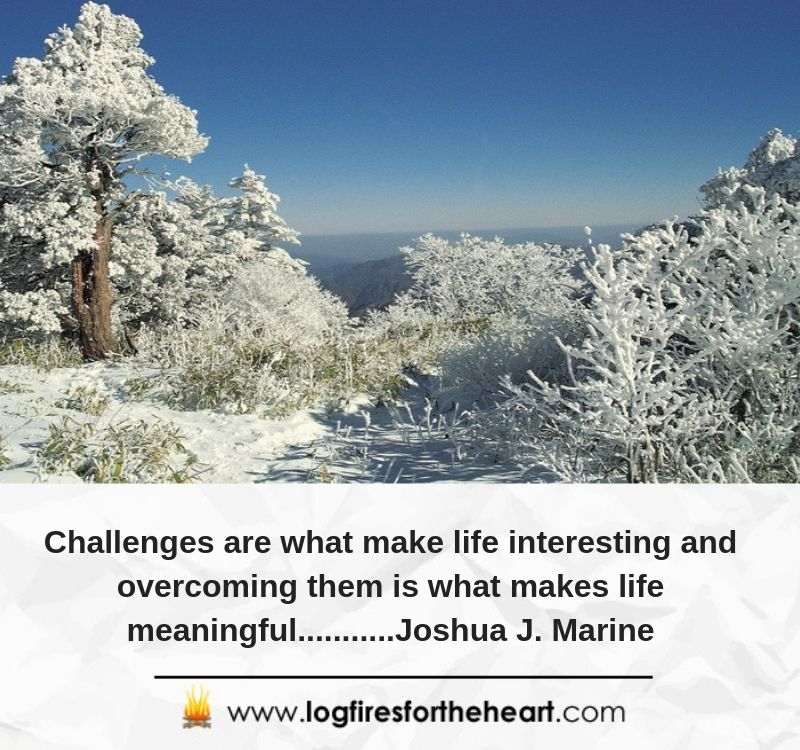 Challenges are what make life interesting and overcoming them is what makes life meaningful...........Joshua J. Marine