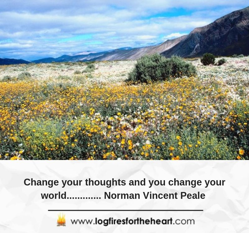 Change your thoughts and you change your world............. Norman Vincent Peale