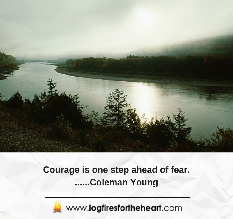 Courage is one step ahead of fear........Coleman Young