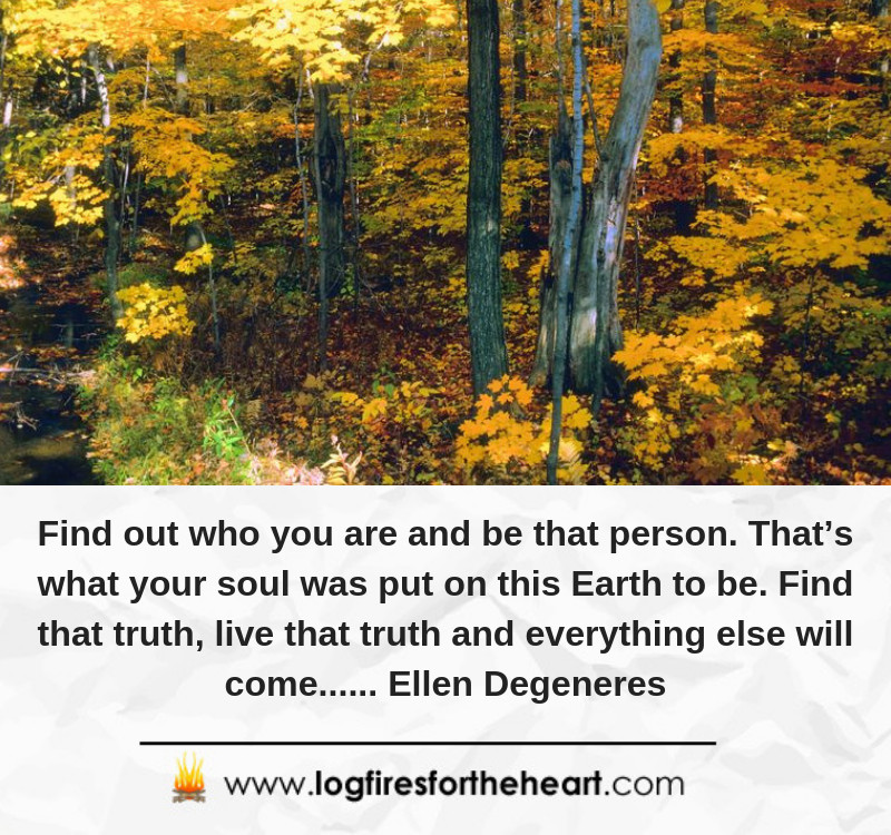 Find out who you are and be that person. That's what your soul was put on this Earth to be. Find that truth, live that truth and everything else will come...... Ellen Degeneres