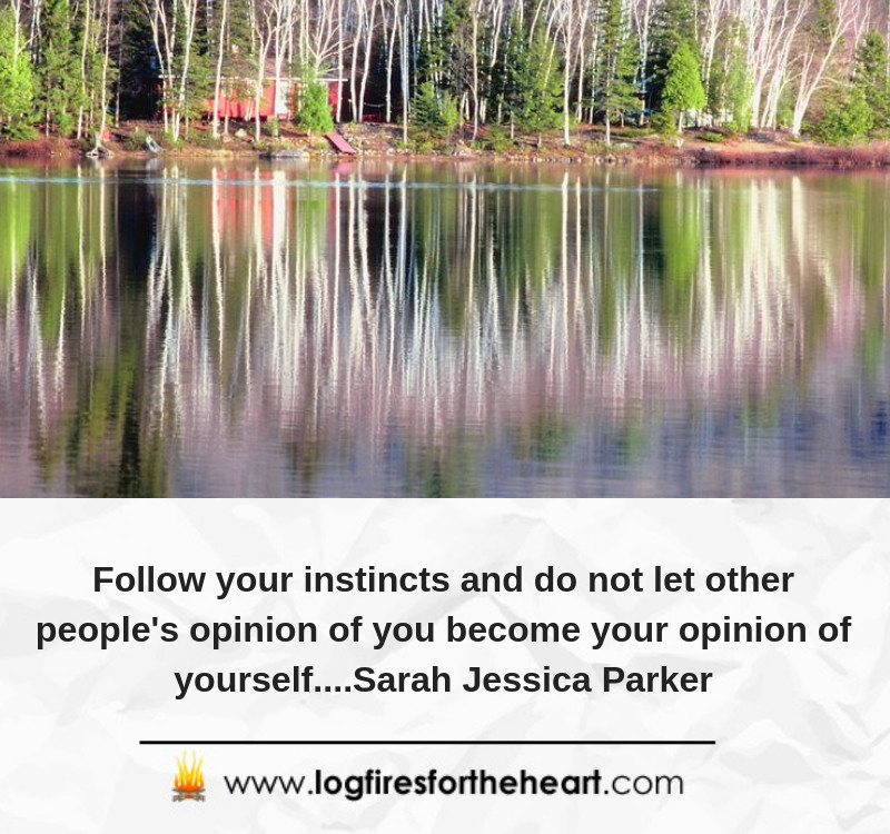 Follow your instincts and do not let other people's opinion of you become your opinion of yourself....Sarah Jessica Parker