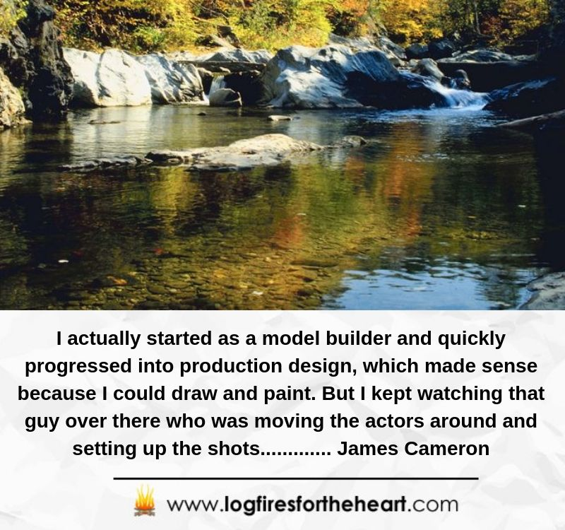 I actually started as a model builder and quickly progressed into production design, which made sense because I could draw and paint. But I kept watching that guy over there who was moving the actors around and setting up the shots............. James Cameron