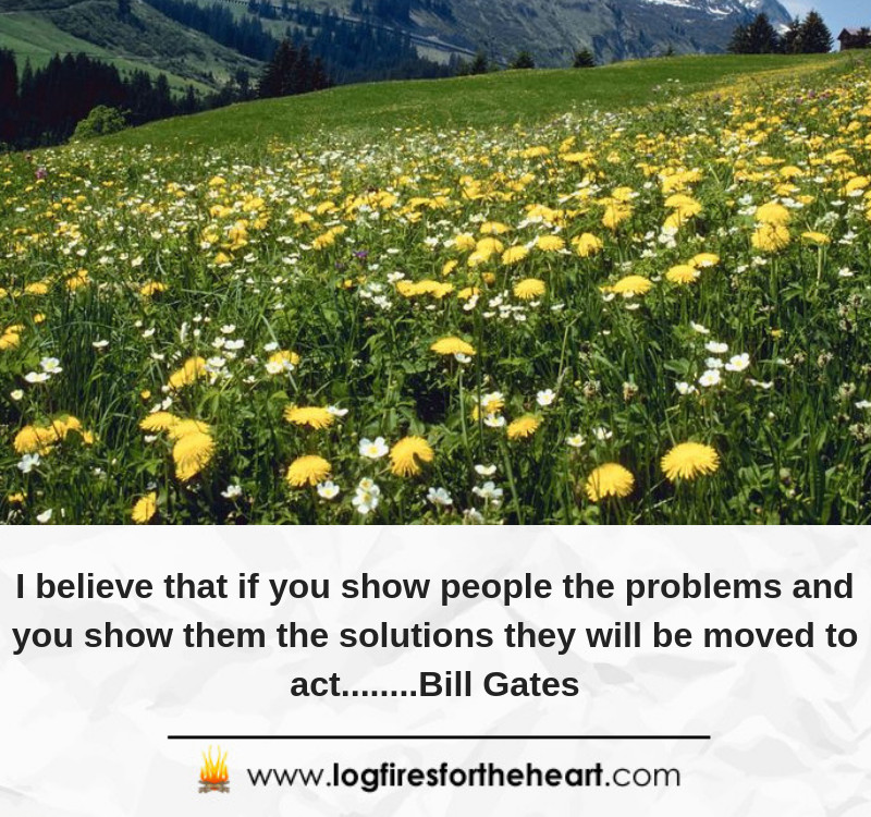 I believe that if you show people the problems and you show them the solutions they will be moved to act........Bill Gates