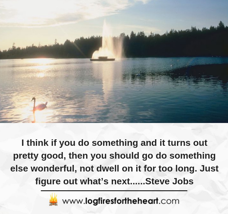 I think if you do something and it turns out pretty good, then you should go do something else wonderful, not dwell on it for too long. Just figure out what's next......Steve Jobs