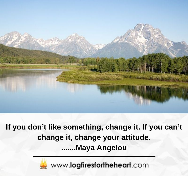 If you don't like something, change it. If you can't change it, change your attitude........Maya Angelou