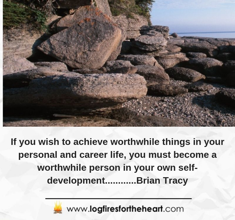 If you wish to achieve worthwhile things in your personal and career life, you must become a worthwhile person in your own self-development............Brian Tracy