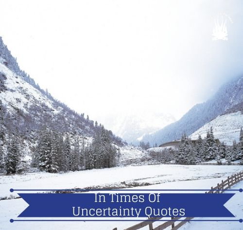 In Times Of Uncertainty Quotes