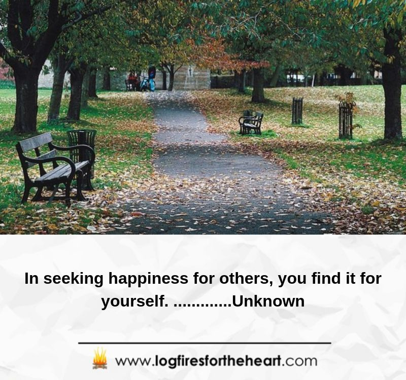 In seeking happiness for others, you find it for yourself. .............Unknown