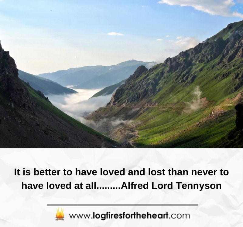 It is better to have loved and lost, than never to have loved at all.........Alfred Lord Tennyson