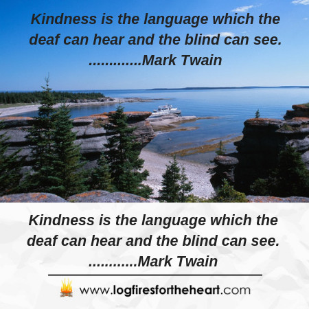indness is the language which the deaf can hear and the blind can see. Mark Twain