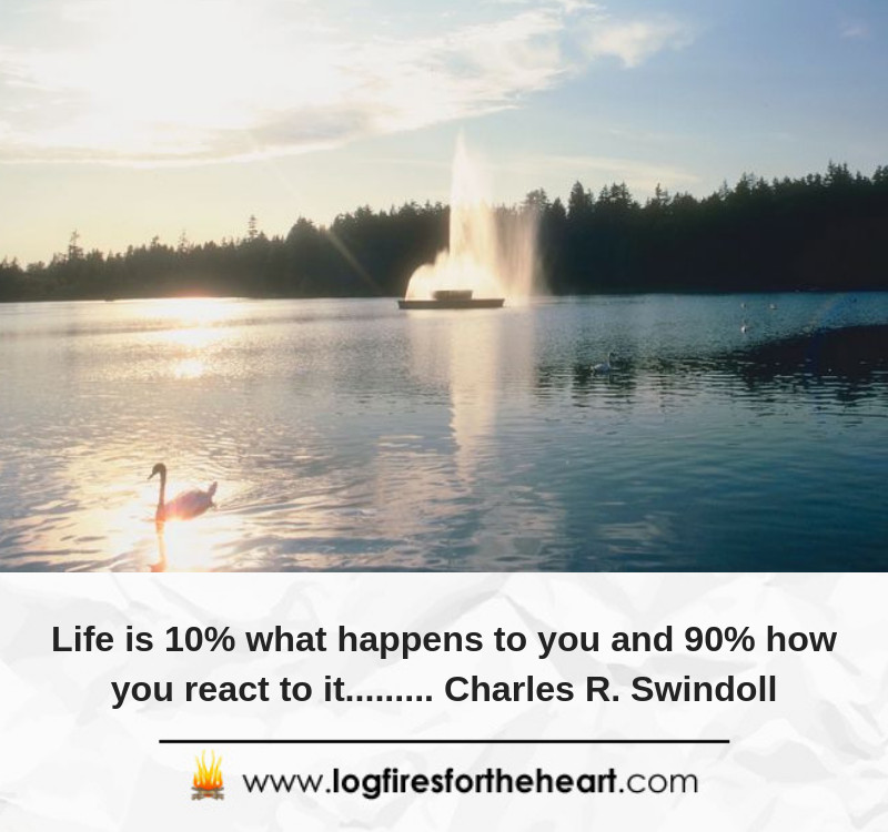 Life is 10% what happens to you and 90% how you react to it......... Charles R. Swindoll