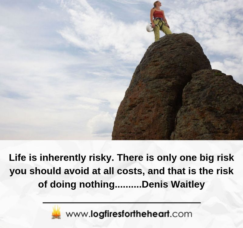 Life is inherently risky. There is only one big risk you should avoid at all costs, and that is the risk of doing nothing..........Denis Waitley
