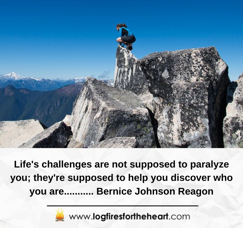 Life's challenges are not supposed to paralyze you; they're supposed to help you discover who you are........... Bernice Johnson Reagon