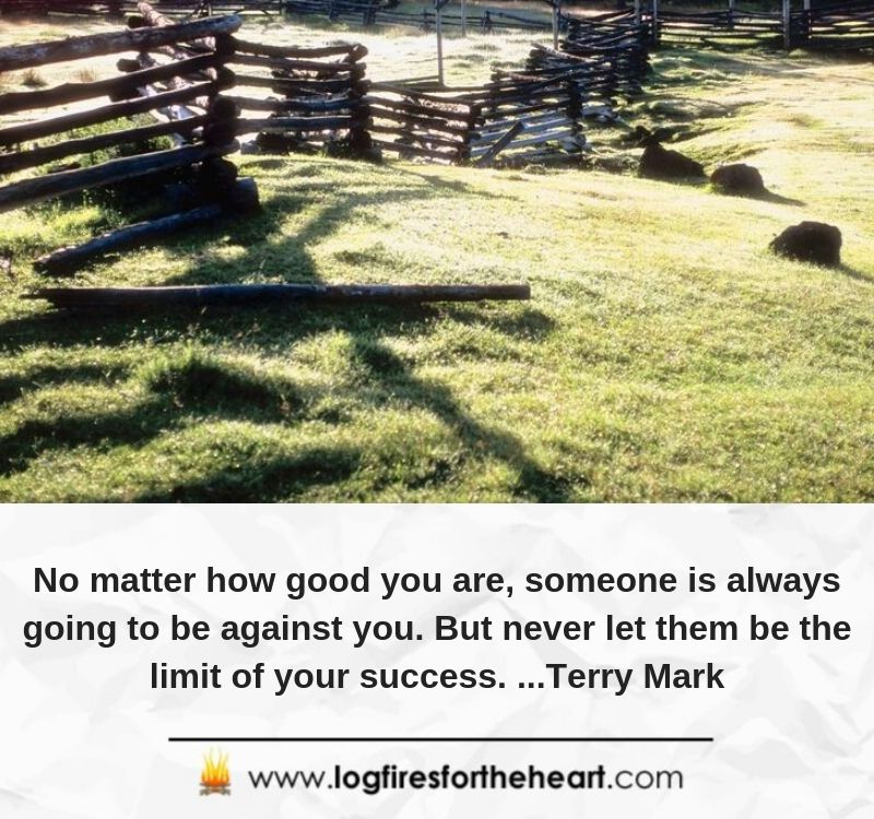 No matter how good you are, someone is always going to be against you. But never let them be the limit of your success. ...Terry Mark