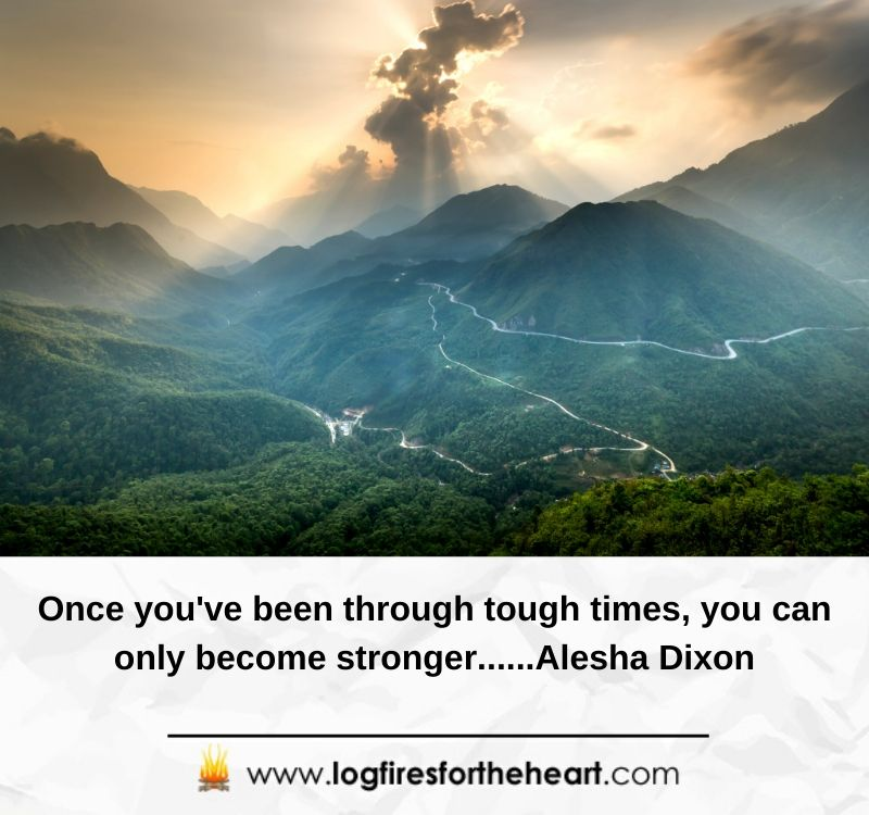 Once you've been through tough times, you can only become stronger......Alesha Dixon