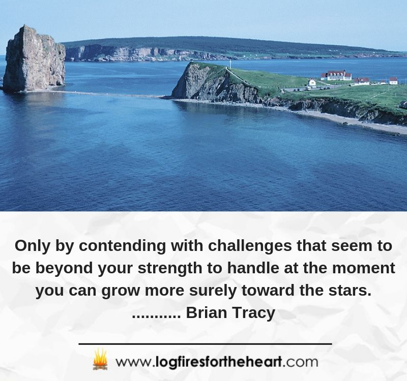 Only by contending with challenges that seem to be beyond your strength to handle at the moment you can grow more surely toward the stars............ Brian Tracy