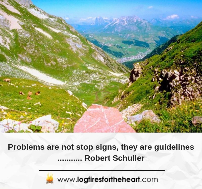 Problems are not stop signs, they are guidelines.... Robert Schuller