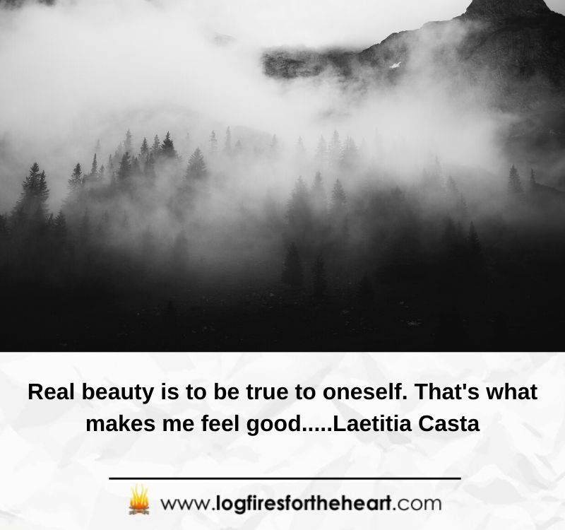 Real beauty is to be true to oneself. That's what makes me feel good.....Laetitia Casta