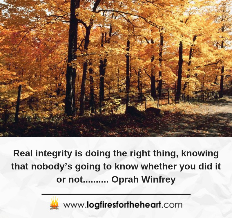 Real integrity is doing the right thing, knowing that nobody's going to know whether you did it or not.......... Oprah Winfrey