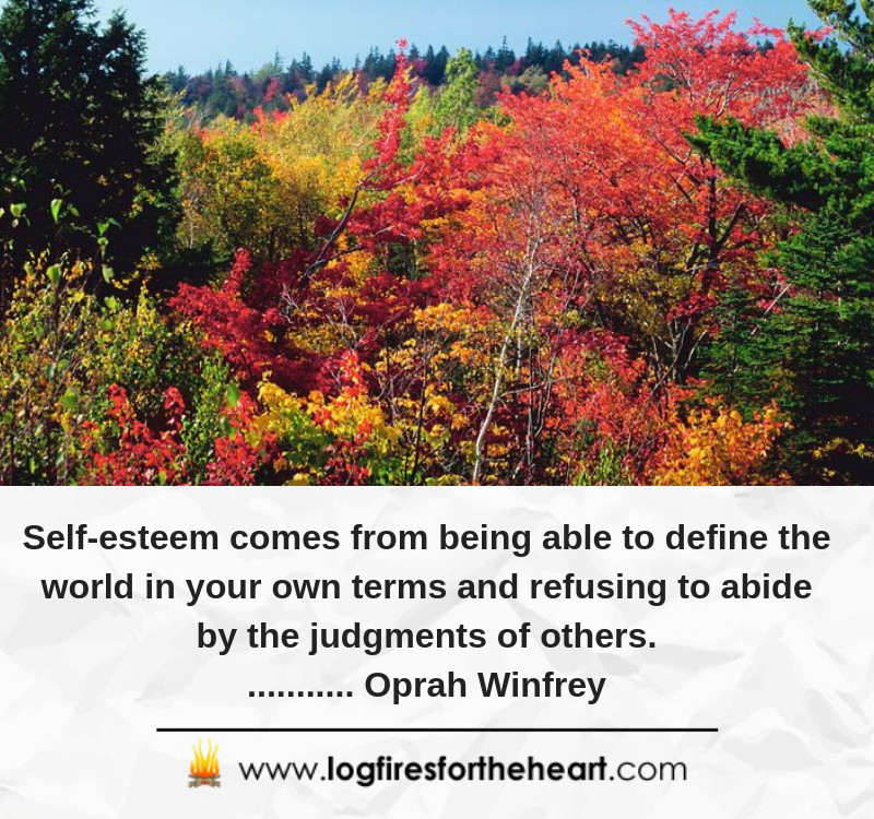 Self-esteem comes from being able to define the world in your own terms and refusing to abide by the judgments of others............ Oprah Winfrey