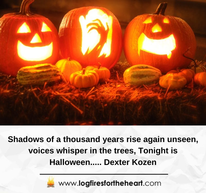 Shadows of a thousand years rise again unseen, voices whisper in the trees, Tonight is Halloween..... Dexter Kozen