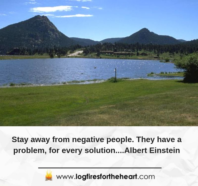 Stay away from negative people. They have a problem, for every solution....Albert Einstein