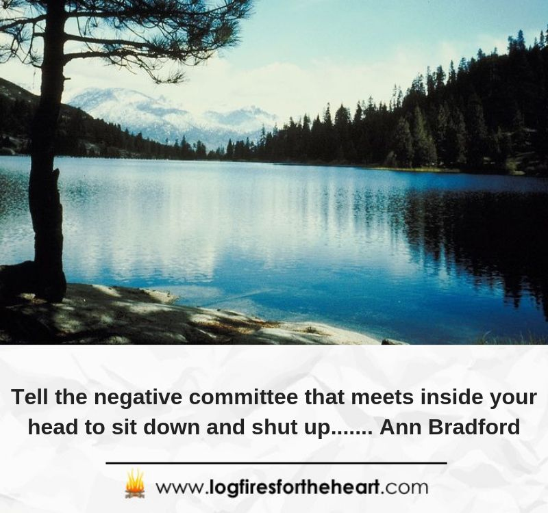 Tell the negative committee that meets inside your head to sit down and shut up....... Ann Bradford