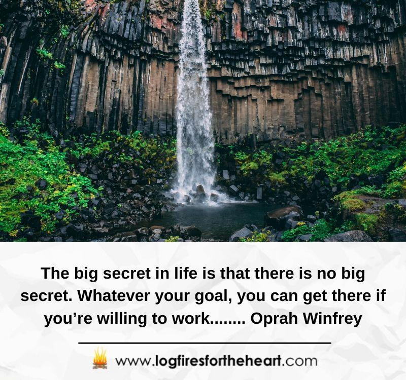 The big secret in life is that there is no big secret. Whatever your goal, you can get there if you're willing to work........ Oprah Winfrey