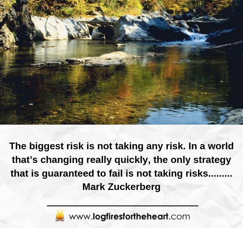 The biggest risk is not taking any risk. In a world that's changing really quickly, the only strategy that is guaranteed to fail is not taking risks......... Mark Zuckerberg