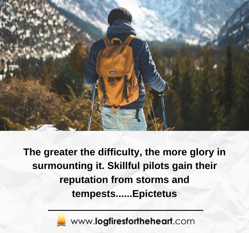 The greater the difficulty, the more glory in surmounting it. Skillful pilots gain their reputation from storms and tempests......Epictetus