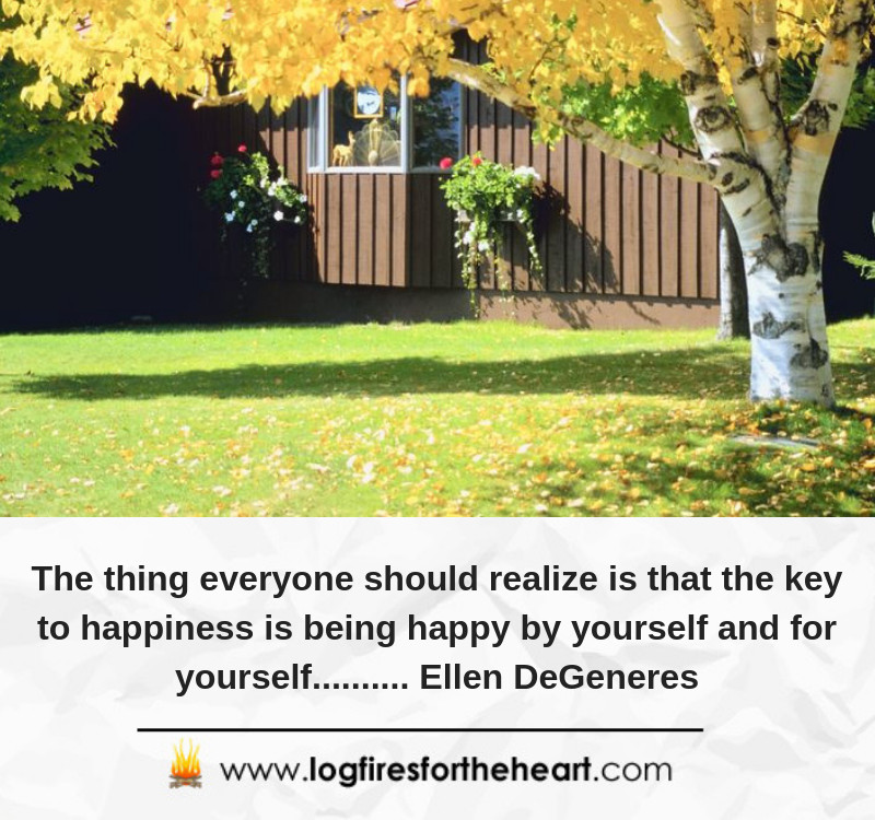 The thing everyone should realize is that the key to happiness is being happy by yourself and for yourself.......... Ellen DeGeneres