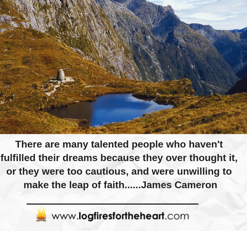 There are many talented people who haven't fulfilled their dreams because they over thought it, or they were too cautious, and were unwilling to make the leap of faith......James Cameron