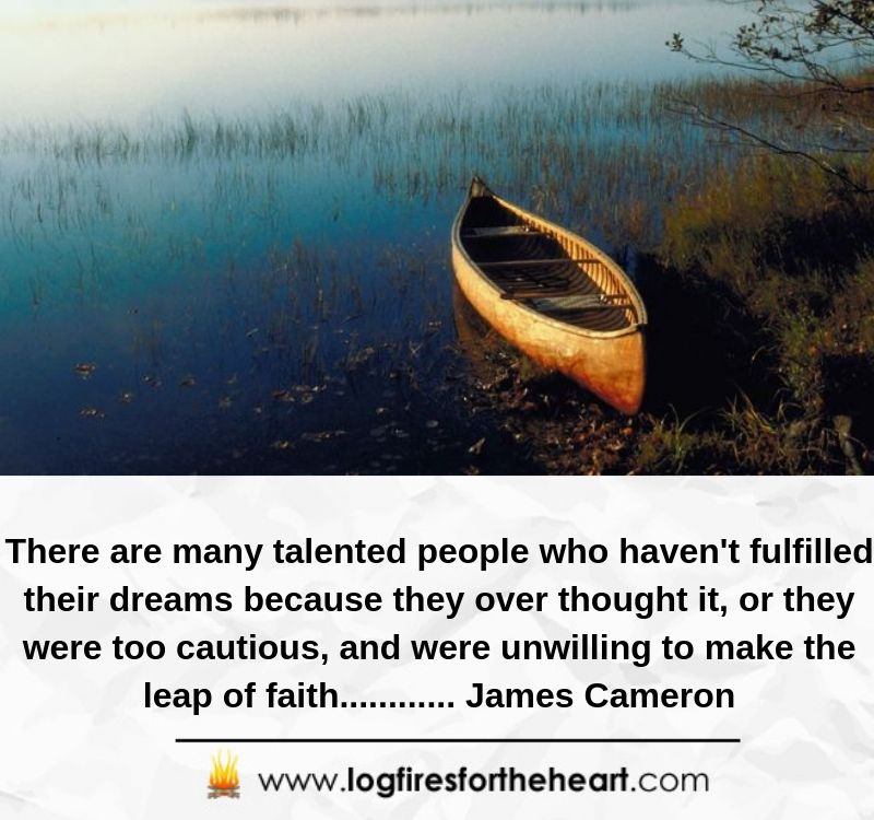 There are many talented people who haven't fulfilled their dreams because they over thought it, or they were too cautious, and were unwilling to make the leap of faith............ James Cameron