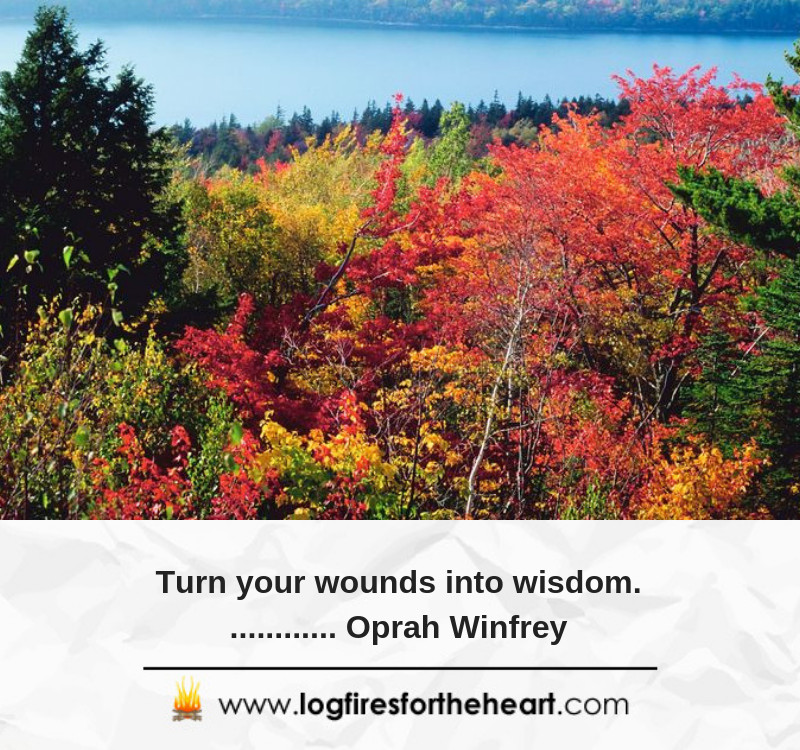 Turn your wounds into wisdom............. Oprah Winfrey