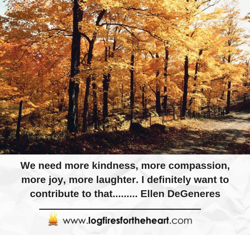 We need more kindness, more compassion, more joy, more laughter. I definitely want to contribute to that......... Ellen DeGeneres