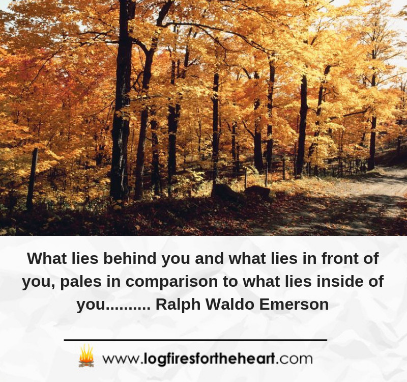What lies behind you and what lies in front of you, pales in comparison to what lies inside of you.......... Ralph Waldo Emerson