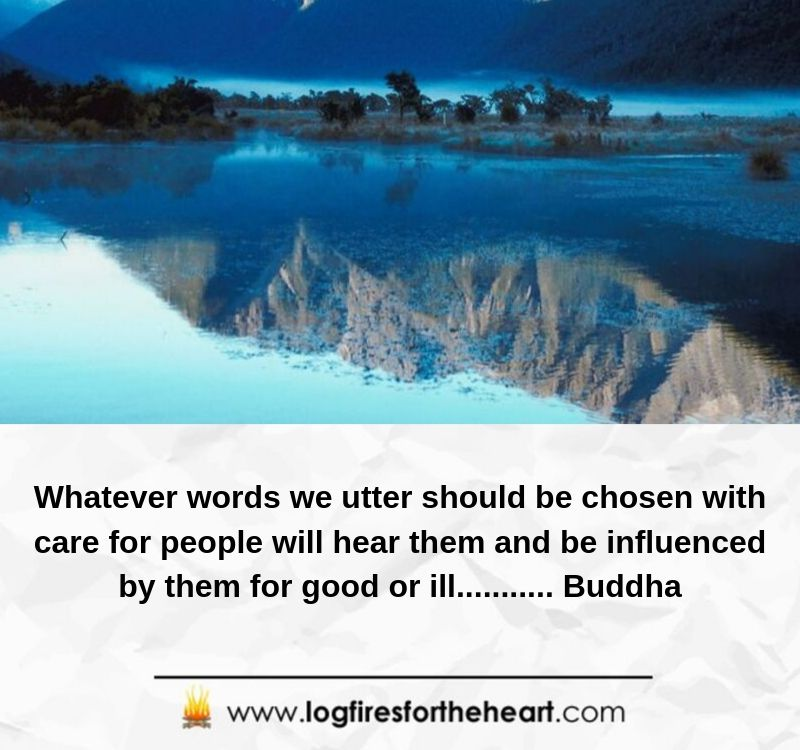 Whatever words we utter should be chosen with care for people will hear them and be influenced by them for good or ill........... Buddha