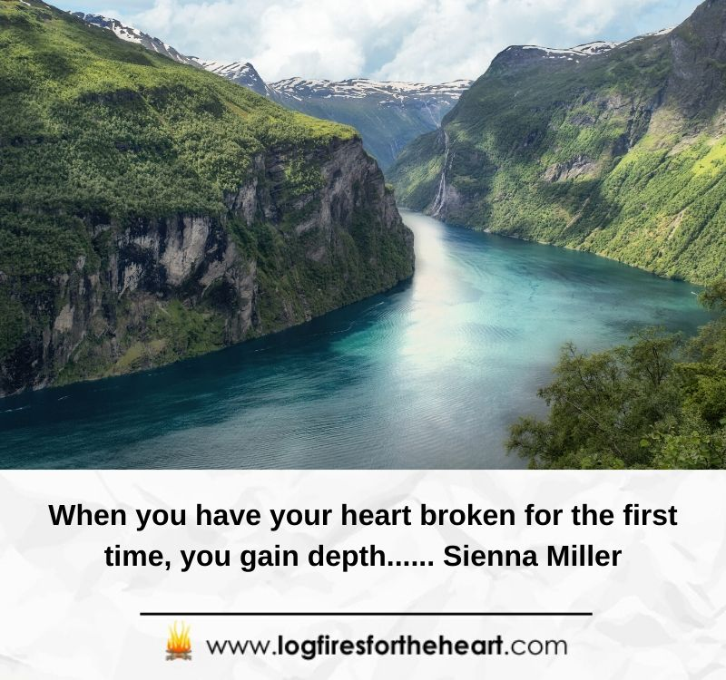 When you have your heart broken for the first time, you gain depth...... Sienna Miller