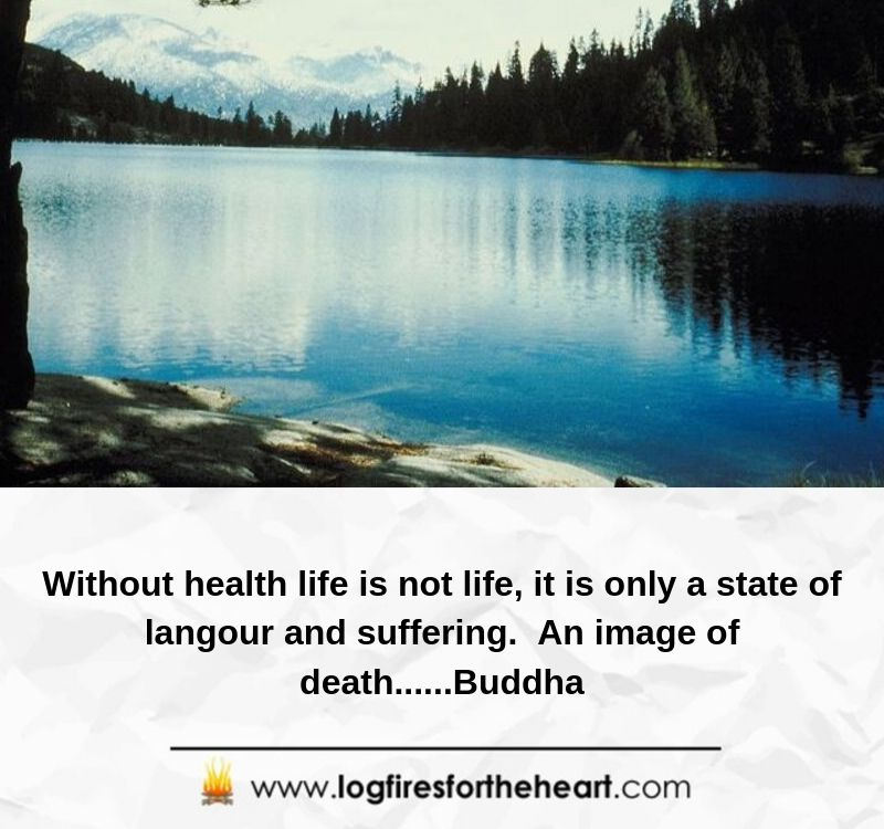 Without health life is not life, it is only a state of languor and suffering. An image of death......Buddha